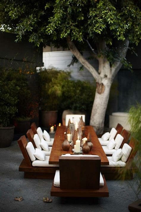 backyard dining modern designs revolving around japanese dining tables