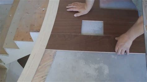 Installing Hardwood Floors Next To Existing Hardwood How To Install Hardwood Floor Around Curved Stair Nosing Mryoucandoityourself