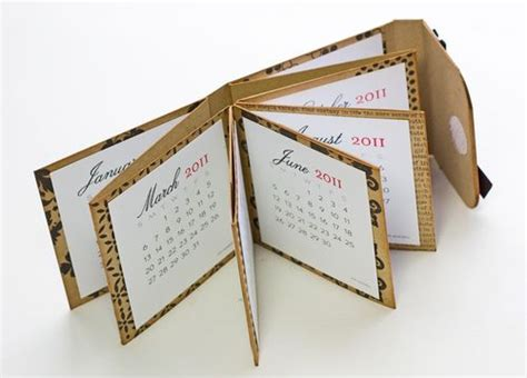 How To Make A Tiny Book Out Of Paper - calendar book tutorial bjl albums notes planners