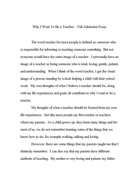 Essay On by Sle College Admission Essays Exle General Stuff