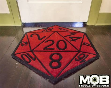 D20 Roleplaying critical hit d20 rug by middle of beyond http www