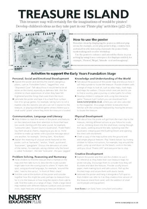 treasure island book report treasure island poster notes free early years teaching