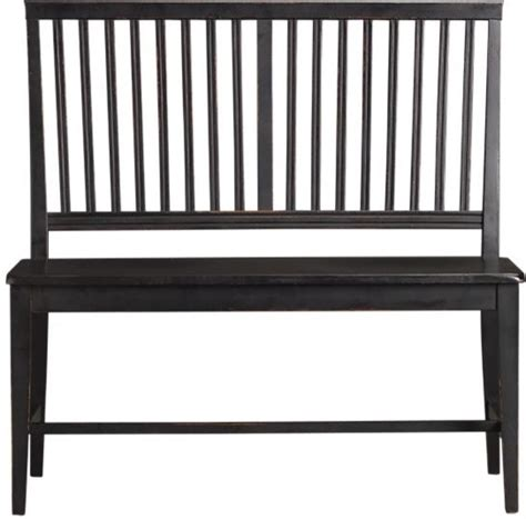bench black village black armless bench contemporary indoor