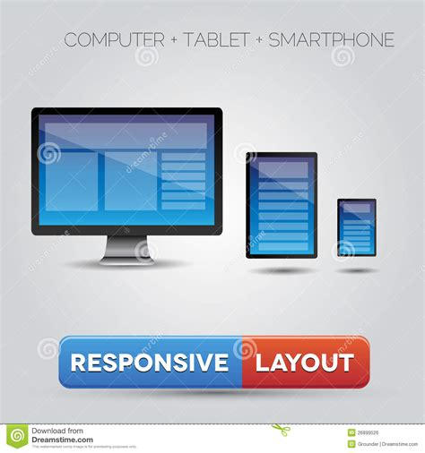 responsive layout free download responsive layout royalty free stock image image 26899526