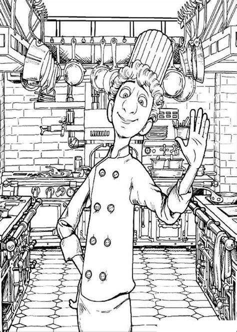 ratatouille coloring pages linguinis chef cook kitchen