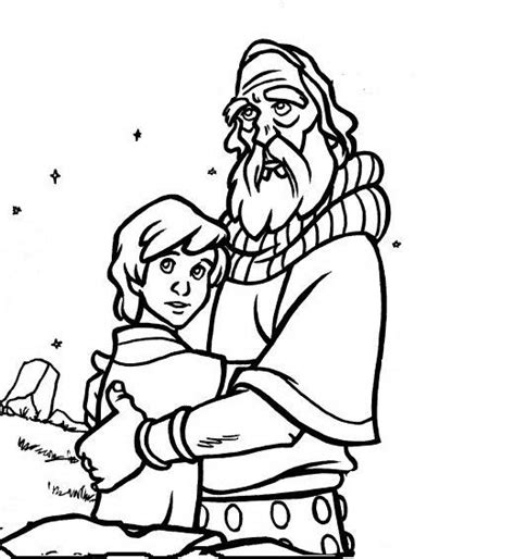 abraham and isaac coloring sheets coloring pages
