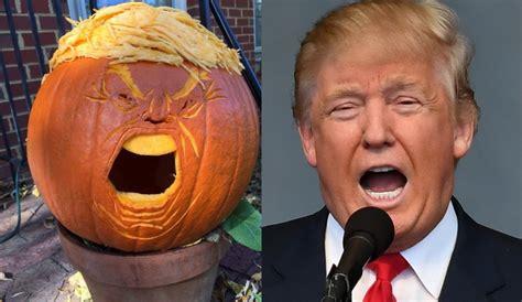 Trumpkins Take Over Halloween Donald Trump Pumpkins Are