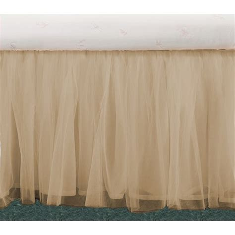 Beige Bed Skirt by Tulle Beige Ruffle Bed Skirts In All Sizes Drop Lengths