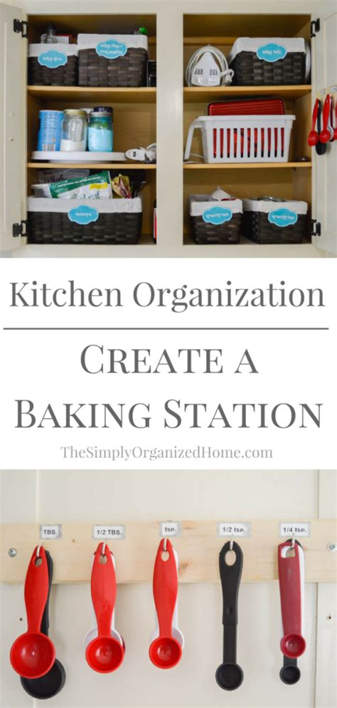 kitchen organization create a baking station the simply