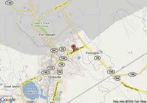 map of quality inn at fort stewart hinesville