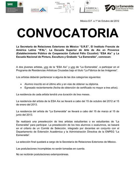 convocatoria para servicio de convocatoria la esmeralda extensi 243 n acad 233 mica