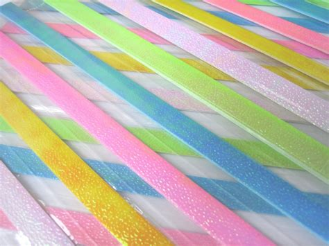 Shiny Origami Paper - 80 strips shiny pearlescent mix colour origami folding