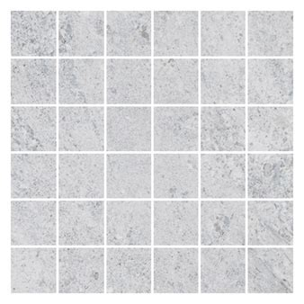 Hillock Light Grey Mosaic Tiles 50x50mm   Floor Mosaics