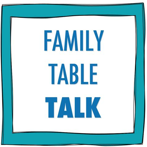pinching prose table talk conversation around the