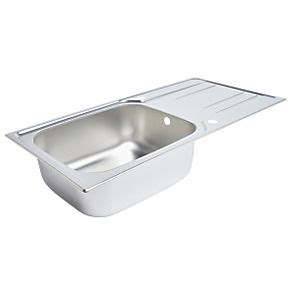 screwfix kitchen sinks kitchen sink drainer stainless steel 1 bowl 1000 x 500mm