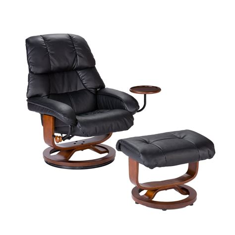 high back leather recliner chair southern enterprises high back leather recliner and