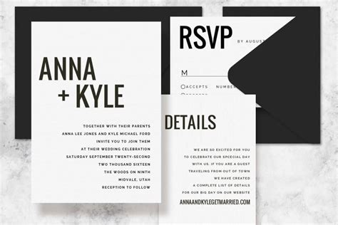 modern wedding invitations templates modern minimalist printable wedding invitation set