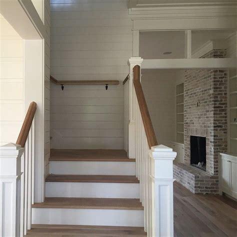 shiplap on stairs best 25 farmhouse stairs ideas on pinterest attic