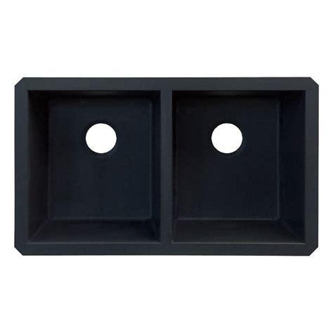 black undermount kitchen sink transolid radius undermount granite 32 in equal double