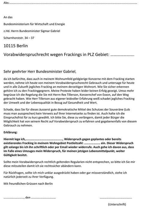 Vorlage Kündigung Mietvertrag Eine Partei Update Widerspruchfrist Gegen Fracking Vor Der Eigenen Haust 252 R L 228 Uft Bald Ab Wim Wissen Ist