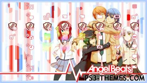 psp themes download anime ps3 themes 187 angel beats v2