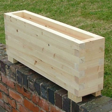 Narrow Planters by Narrow Planters Trough Planters The Oli Wooden Garden