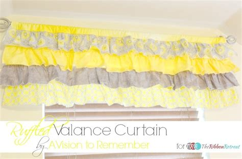 sewing a valance curtain how to sew a ruffled valance curtain the ribbon retreat blog