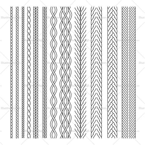 illustrator rope pattern brush download cable brush pattern library illustrator stuff