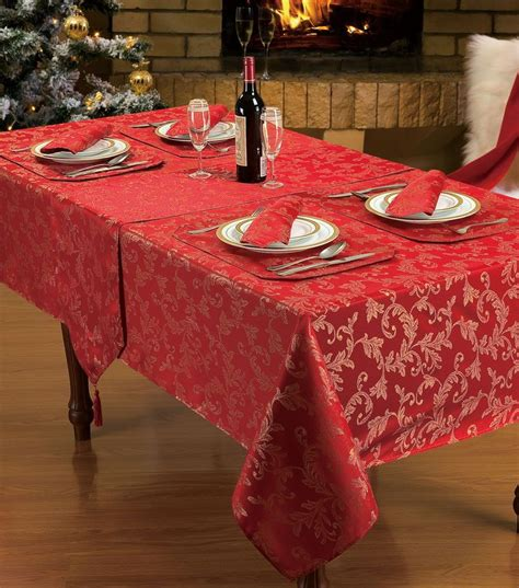 glitter wallpaper stockists glasgow red glitter jacquard stylish christmas dinner party linen