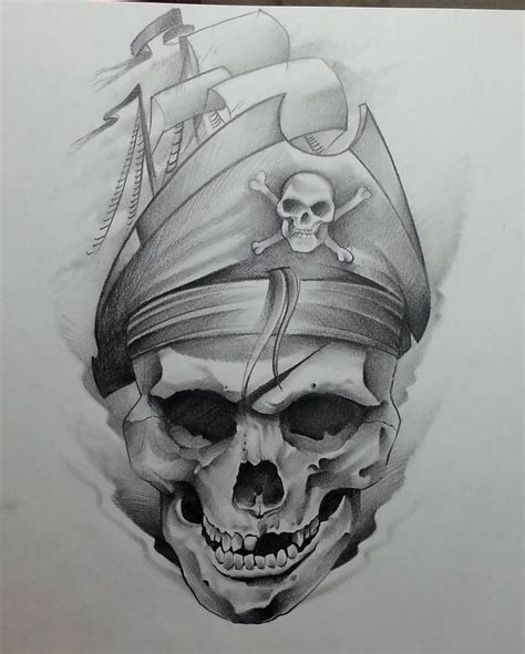 skull with hat tattoo designs best 25 pirate skull tattoos ideas on pirate