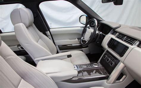 white land rover interior 2013 land rover range rover first drive motor trend