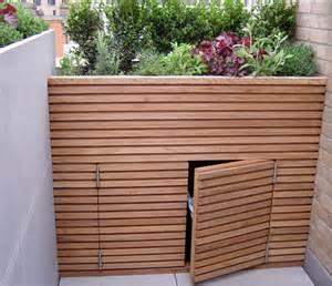 wheelie bin store cox garden designs