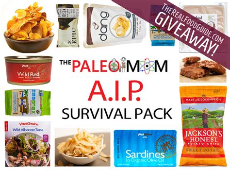 Food Giveaway Ideas - aip snacks giveaway the real food guide