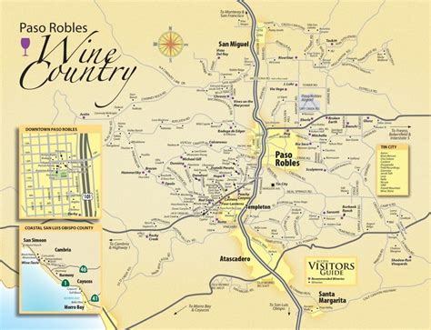 paso robles paso robles wine maps california winery advisor