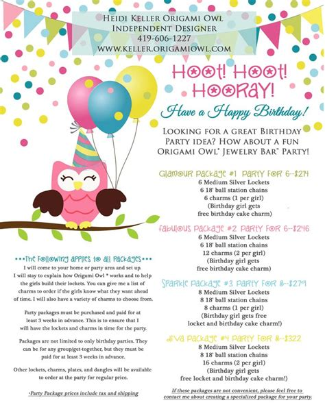 Origami Owl Birthday - discover and save creative ideas