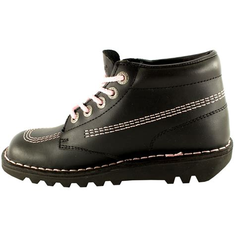 Kickers Shoes 5 womens kickers kick hi classic leather office work ankle boots shoes us 5 5 11 ebay