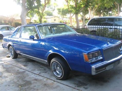 81 Buick Regal Parts Purchase Used 81 Buick Regal Low Rider In San Bernardino