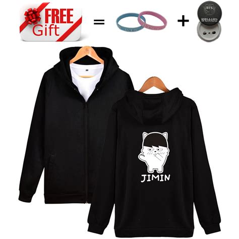 Hoodie Zipper Sherlock Design T Shirt Sweater Hoodies Eksklusif 2017 brand clothing bts kpop design zipper hoodies hip hop hooded sweatshirt