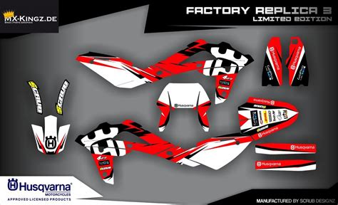 Husqvarna 610 Dekor by Husqvarna Italy Lizenzierte Dekore Mx Kingz Motocross Shop
