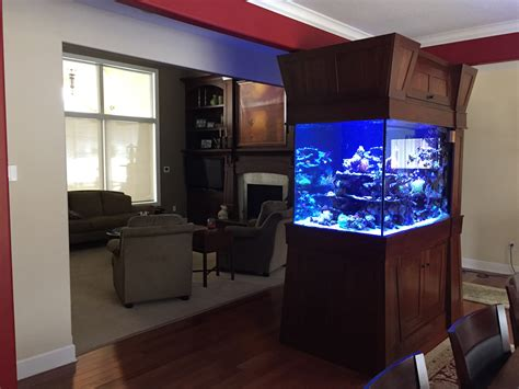 aquarium design network huntington station ny custom built 300 gallon room divider reef home aquarium