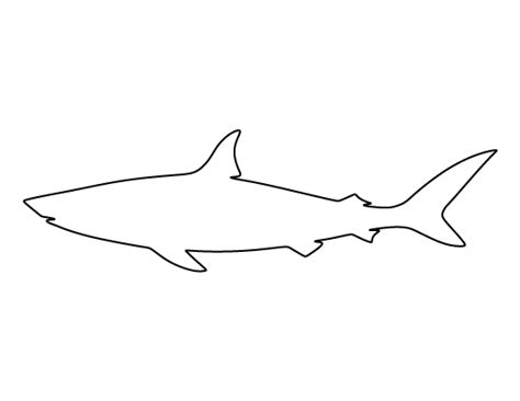 Shark Pattern Use The Printable Outline For Crafts Great White Shark Template