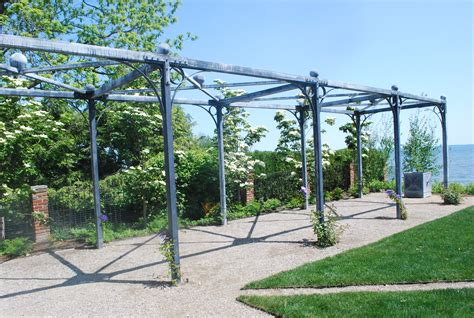 36 long steel pergola garden design pinterest