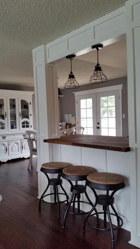 kitchen island transformation board  batten columns