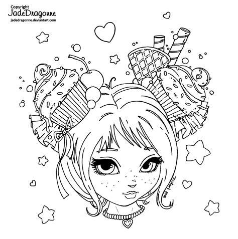 digital art coloring page cupcake sweetheart lineart by jadedragonne on deviantart