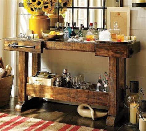 vintage home love how to build a rustic kitchen table island 18 dicas de como montar um barzinho diferente em casa com