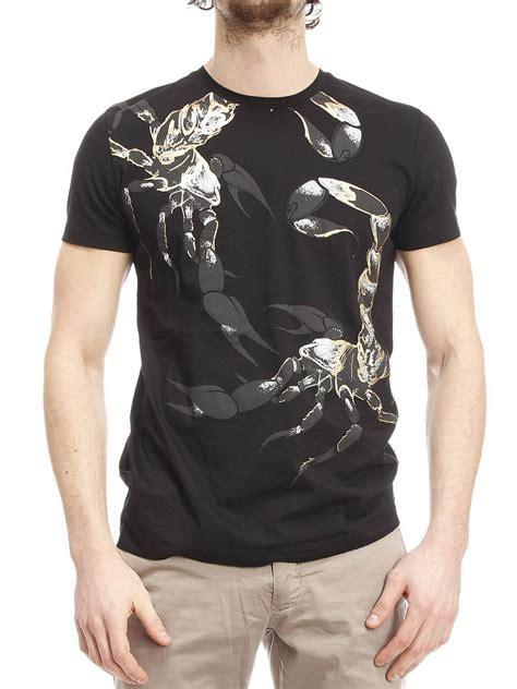 Roberto Cavalli Floral Print Cotton T Shirt T Shirts Cm700a 2458 401 by Printed Cotton T Shirt By Roberto Cavalli T Shirts Ikrix