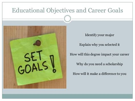 educational and career goals and objectives essay on educational goals and objectives
