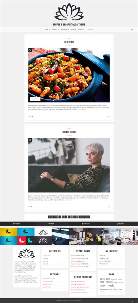 blogger themes with menu lotos simple blog theme by excellent dynamics themeforest