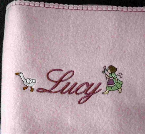 Fleecedecke Altrosa by Exclusive Stickereien Baby Fleecedecke Bestickt Mit Namen