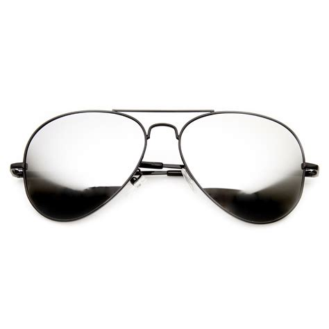 Mirrored Sunglasses premium classic mirrored lens metal aviator